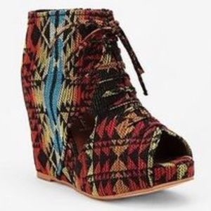 Jeffrey Campbell Aztec Open Toe Bootie